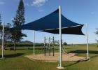 School playground shade sail